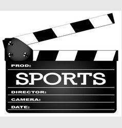 sports clapperboard vector image