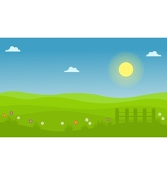 Spring landscape collection vector