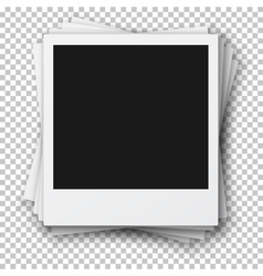 Stack of Retro Photo Frames made in Realistic vector image