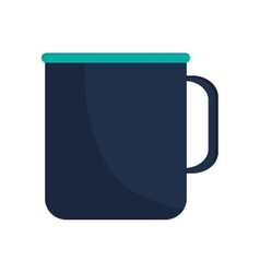 Single mug icon vector