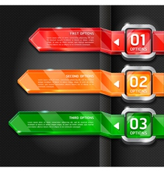 Colorful buttons website style options banner vector