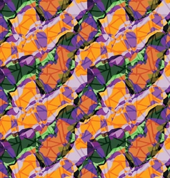 Rough triangles on busy purple orange background vector