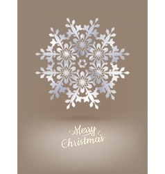 White paper christmas snowflake eps 10 vector