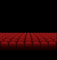 Rows of red velvet seats vector
