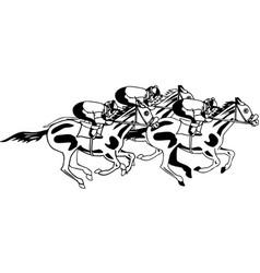 Dh00044 horse race vector