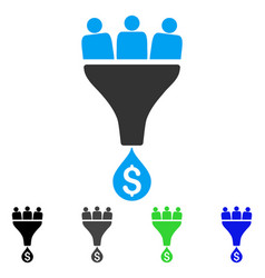 Sales funnel flat icon vector