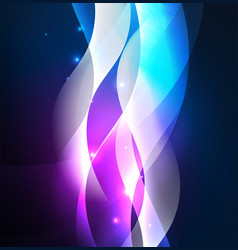Illuminated neon waves vector