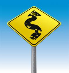 grunge arrow traffic sign vector image