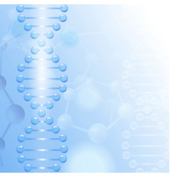 Science background with dna theme and copyspace vector
