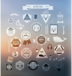 Hipster style elements vector