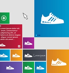 Sneakers icon sign buttons modern interface vector