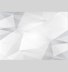 abstract gray and white color low poly background vector image vector image