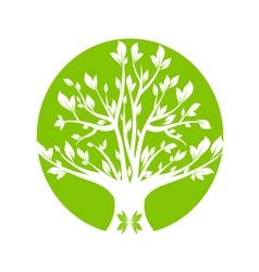 Abstract green art tree closeup vector