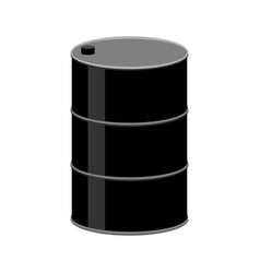 Barrel oil isolated black fuel container on white vector