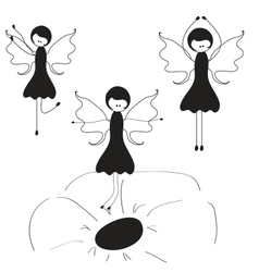 Beauty fairy vector image