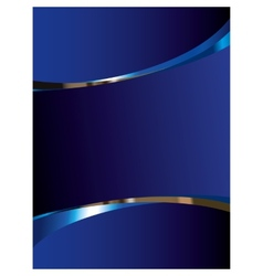 Blue background with glossy elements vector image vector image