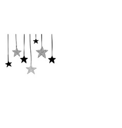 christmas background with black and silver stars vector image vector image