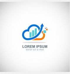 cloud business arrow company logo vector image vector image