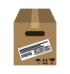 Delivery box design vector image