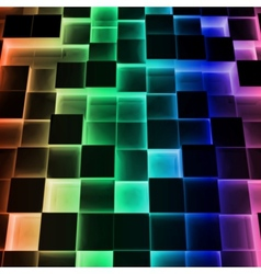 Disco Abstract Square Box vector image