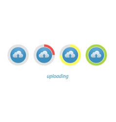 download progress indicator set upload icon and vector image