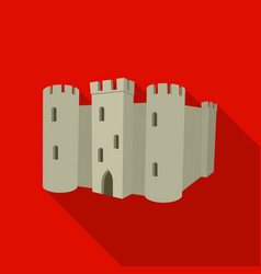 English castle icon in flat style isolated on vector