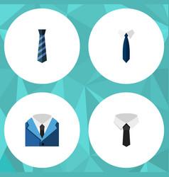 flat icon clothing set of textile cravat suit vector image vector image