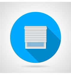 Flat round icon for window with jalousie vector