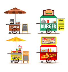 food street vendors vector image