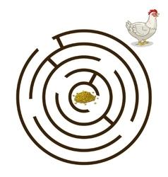 Game labyrinth find a way hen chicken vector