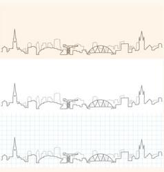 Glasgow hand drawn skyline vector