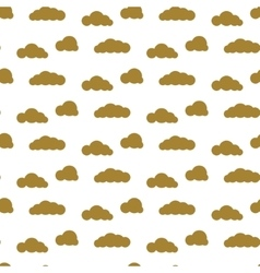 Golden clouds seamless pattern dense sky vector