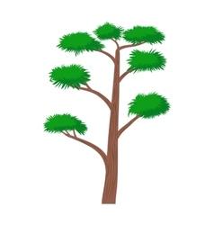 High pine tree icon cartoon style vector image vector image