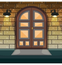 Home entrance door vector
