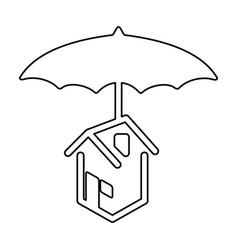 Home umbrella protection vector