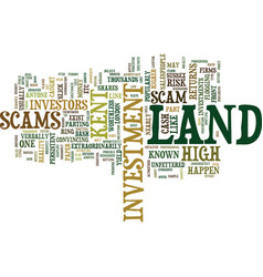Land scams invest in land with your eyes wide vector