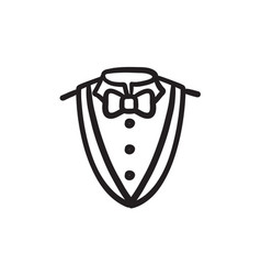 Male suit sketch icon vector