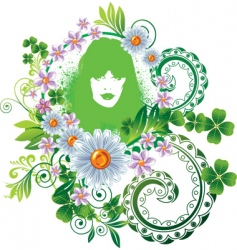 mother nature vector image vector image