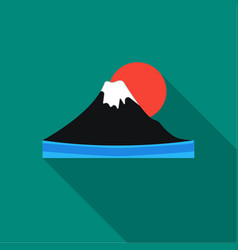 Mount fuji icon in flat style isolated on white vector
