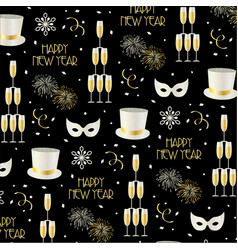new years eve pattern vector image