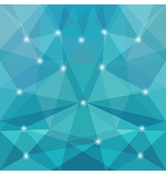 Polygon blue background vector image