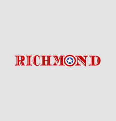 richmond city name vector image vector image