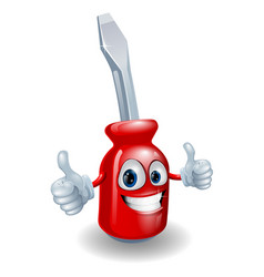 Screwdriver mascot character vector