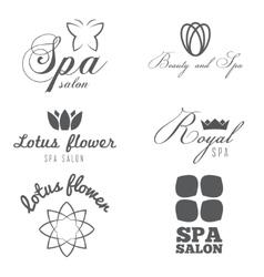 Set of logo badge emblem label print sticker vector image