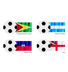 Soccer ball with guyana honduras haiti and herm vector