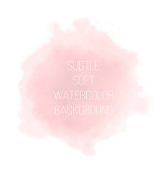 Soft pink powder color watercolor background vector