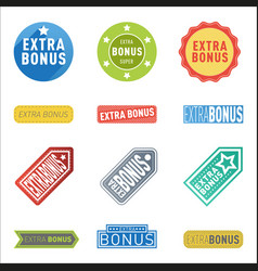 super extra bonus banners text in color drawn vector image vector image
