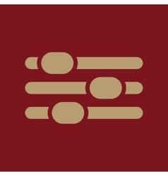 The adjustment icon settings symbol flat vector