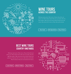 Website landing page template for wine industry vector