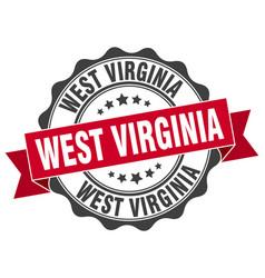 West virginia round ribbon seal vector
